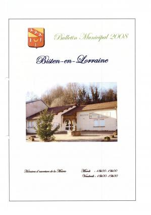 2008 bulletin municipal