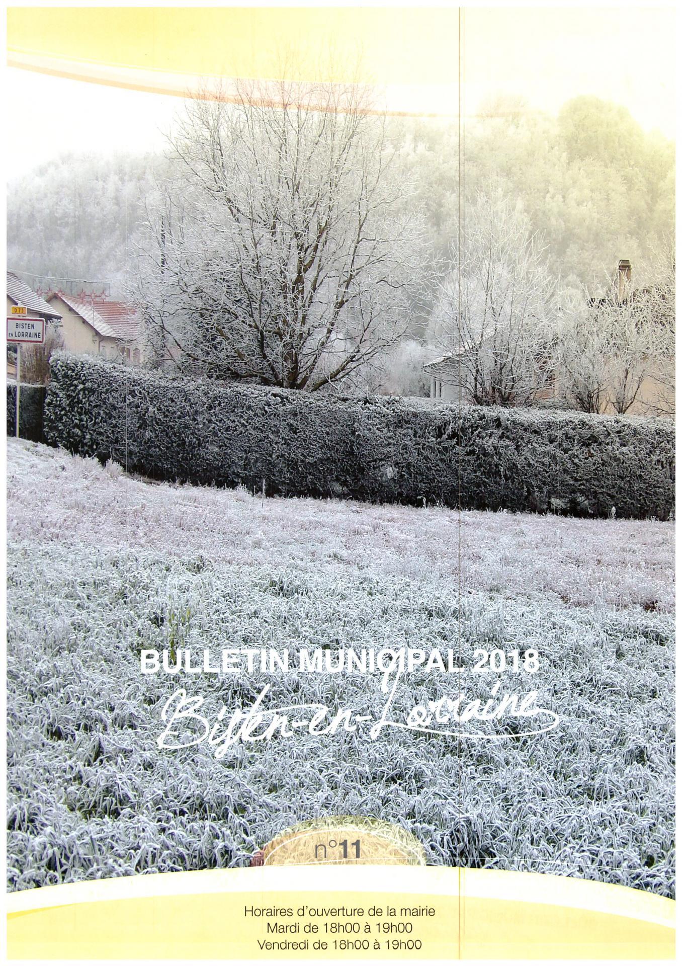 2018 bulletin municipal couverture