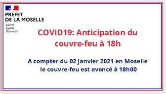 Couvre feu avance a 18h a partir du samedi 02 janvier 2021 frontpageactus