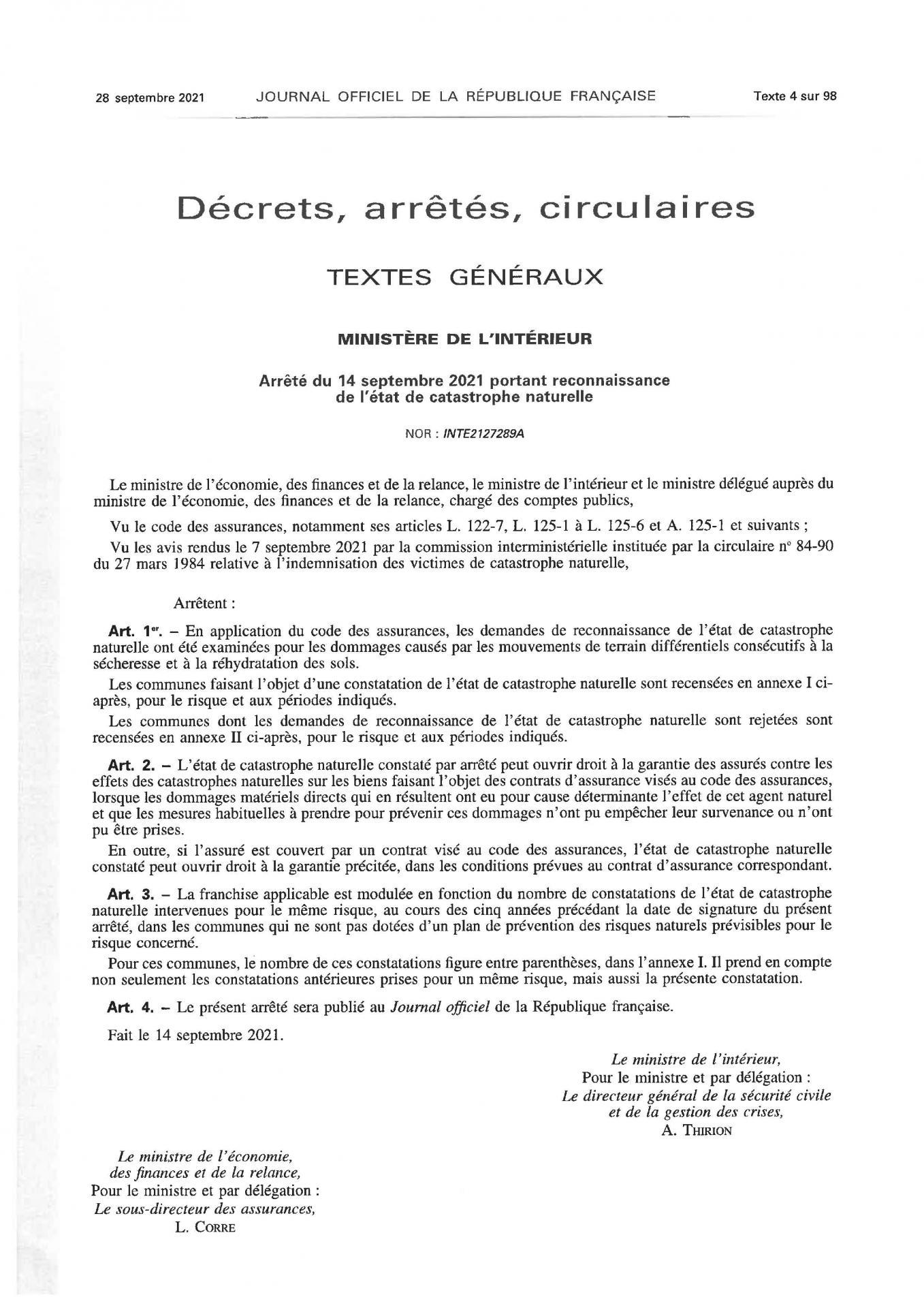 Pages de etat catastrophe naturelle 28 09 2021 3