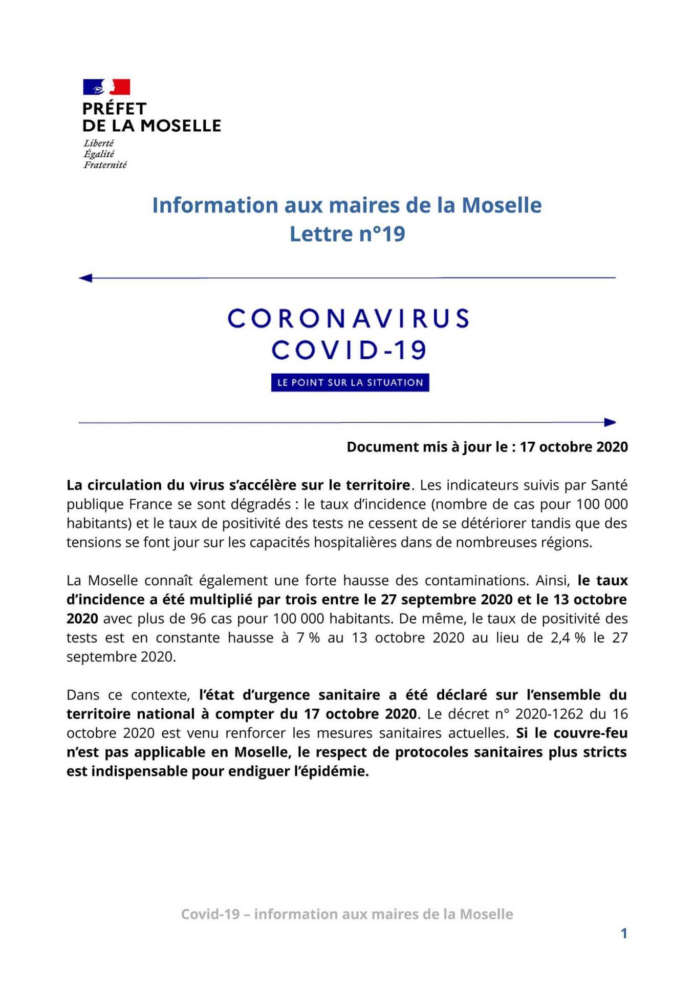 Pages de lettre d information aux maires n 19 covid page 1